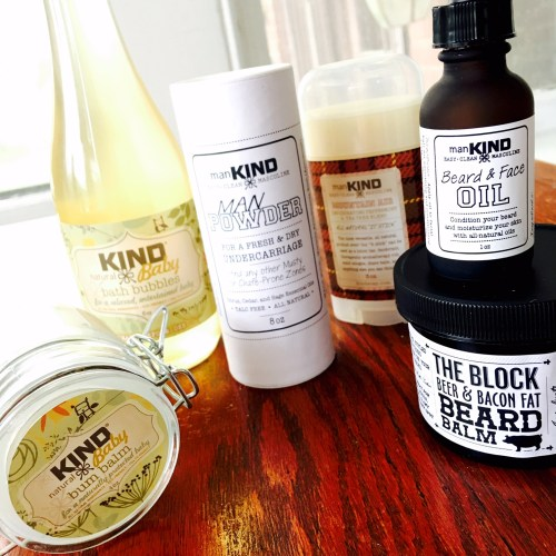 All-natural KIND Baby and ManKIND Skincare
