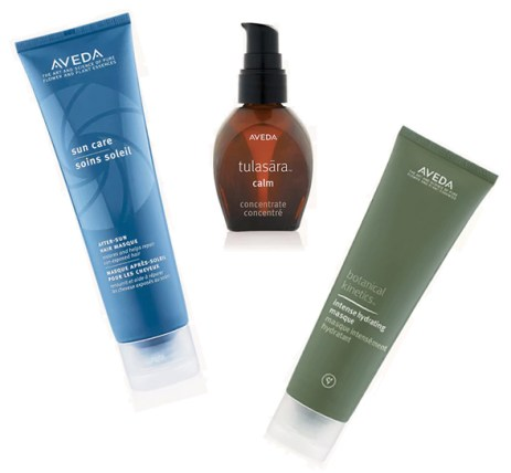 Aveda Sun Care Hair Masque, Tulasara Calm Concentrate, Intense Hydrating Masque
