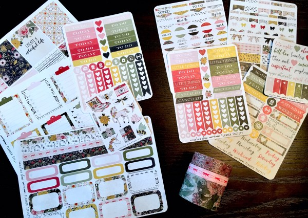 April 2017 Planner Society Sticker, Box Sticker and Washi Kits