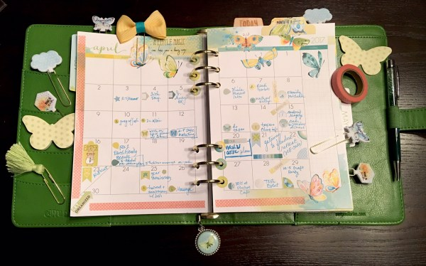 Cocoa Daisy April 2017 monthly pages and accessories in a Webster's Pages A5 Planner available at Cocoa Daisy