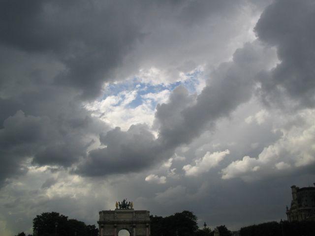 Storm over the Tuileries Gardens, Paris