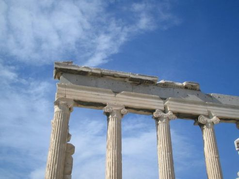 Old Temple of Athena on the Acropolis in Athens