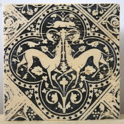 renaissance greyhounds, sainte chapelle, paris france, medieval tiles, religious iconography, circles and geometric designs, inlaid inlay floor tiles