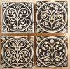 medieval flowers tile sets, sainte chapelle, paris france, medieval tiles, religious iconography, circles and geometric designs, inlaid inlay floor tiles
