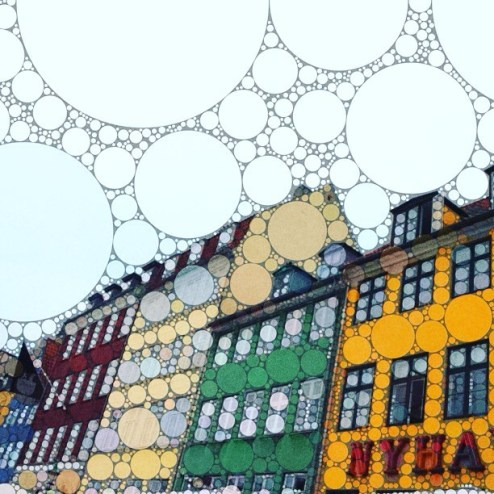 Nyhavn street in Copenhagen, Denmark painted by Percolator