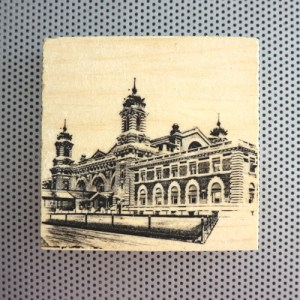 ellis island, immigrant city, new york city, vintage new york, bygone photography, historical buildings, stereographic stereographs