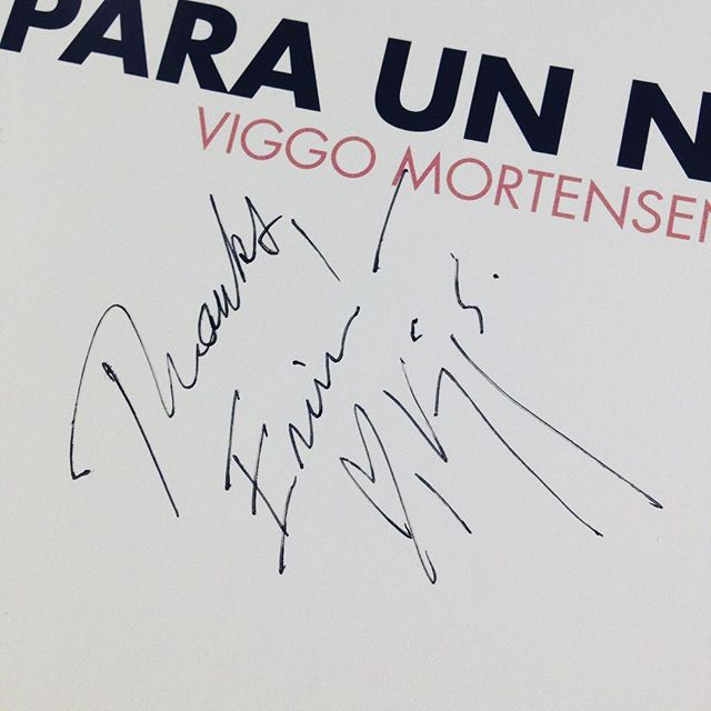 "Whoever warned ""Don't meet your heroes"" clearly picked the wrong idol. Viggo Mortensen was an absolute delight in person; gracious, giving, and charming. (Can you tell I'm still swooning?) #viggomortensen #books #greenbook #movies"