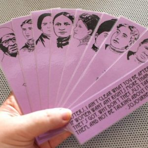 Black suffragists bookmarks set of 9 / African American votes for women portraits feminist activists voting rights book mark purple