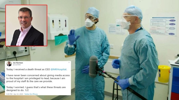 CEO of hospital where Ross Kemp documentary filmed brave NHS staff receives death threat
