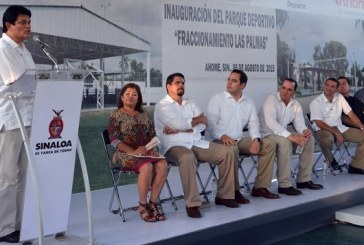 Gobernador entrega Parque Las Palmas