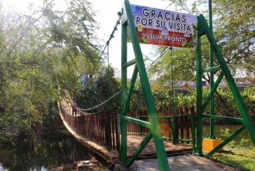 Listo el Puente Colgante de la Laguna El Iguanero, en Rosario.