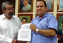 <center>Firma de Convenio: INAH-Municipio de San Ignacio Sinaloa México</center>