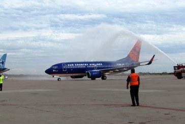 <center>Más buenas noticias de Mazatlán: Regresa vuelo de Sun Country Airlines procedente de Denver</center>