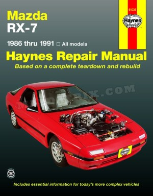BOOK HAYNES RX7, 8691 SHOP MANUAL | Mazdatrix