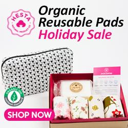Hesta Organic Cotton Pads, Reusable Pads Holiday Sale, Christmas Sale