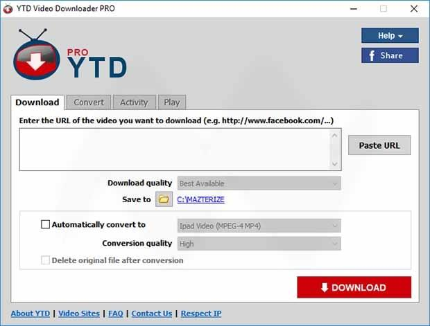 YTD Video Downloader PRO Patch With Serial Key Download