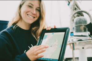 Jess using the mazu iPad app!
