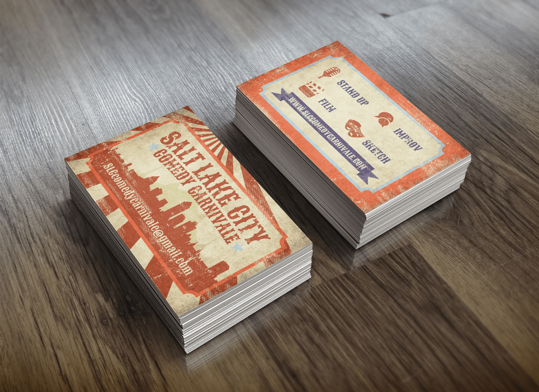 Salt Lake City Comedy Carnivale Business Cards