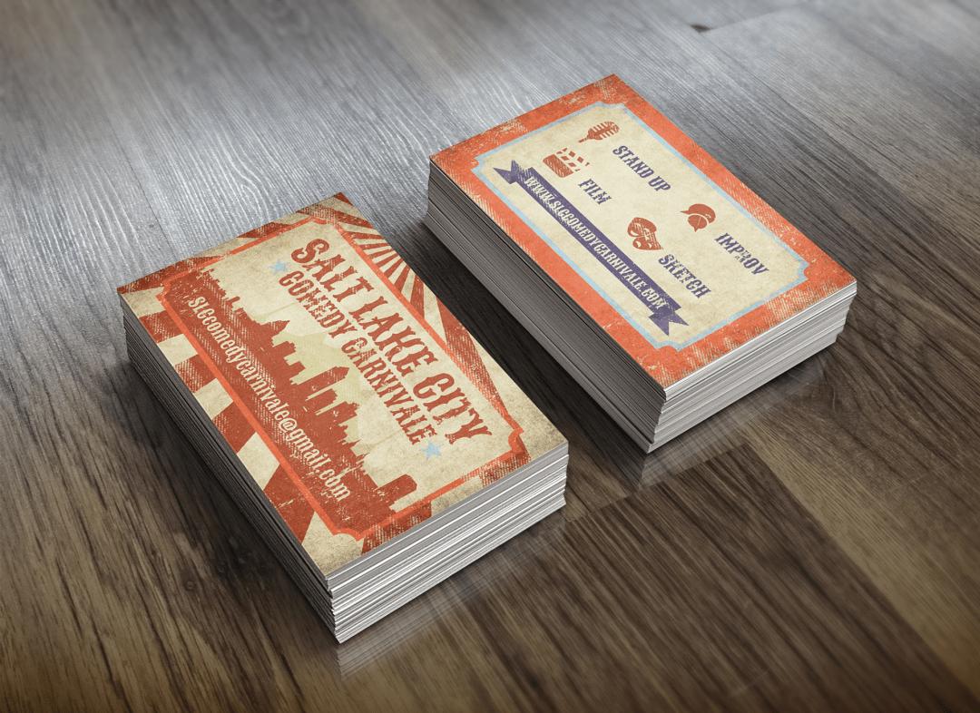 Salt Lake City Comedy Carnivale Business Cards
