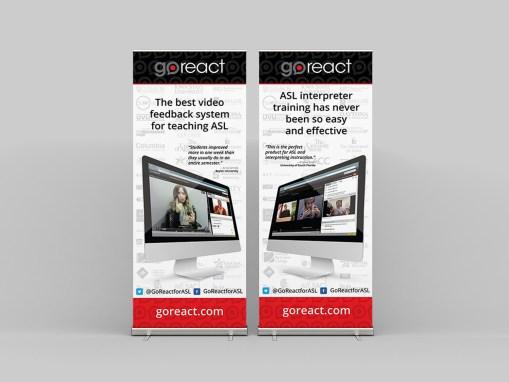 GoReact Tradeshow Banners
