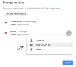 Google drive keep space