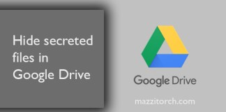 Hide secreted files in Google Drive mazzitorch