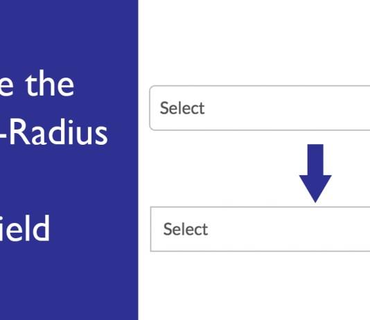 Remove the Border-Radius of Input Field