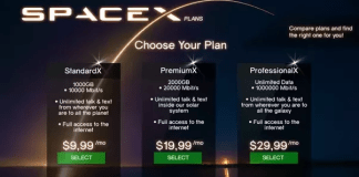 SpaceX internet plan