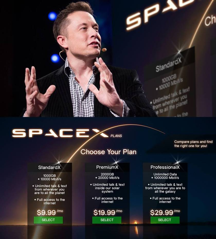 This is the proposed SpaceX internet plan. WOW