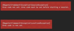 Magento 2 - Area code not set