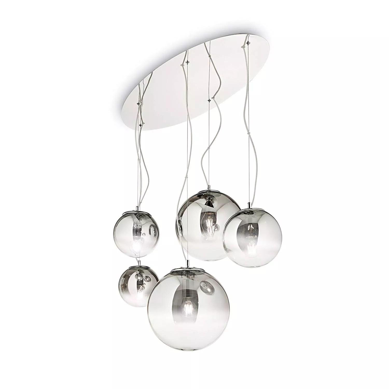 lampadario moderno per salotto sfere di vetro fume design originale. Lampadario Per Soggiorno Moderno 5 Luci Sfere Vetro Fume Mapacrsfumsp5