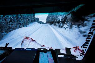 Januar 2019 – Mercedes-Benz Arocs 3258 mit Schneepflug von Mählers. January 2019 – Mercedes-Benz with a snow plow from Mählers