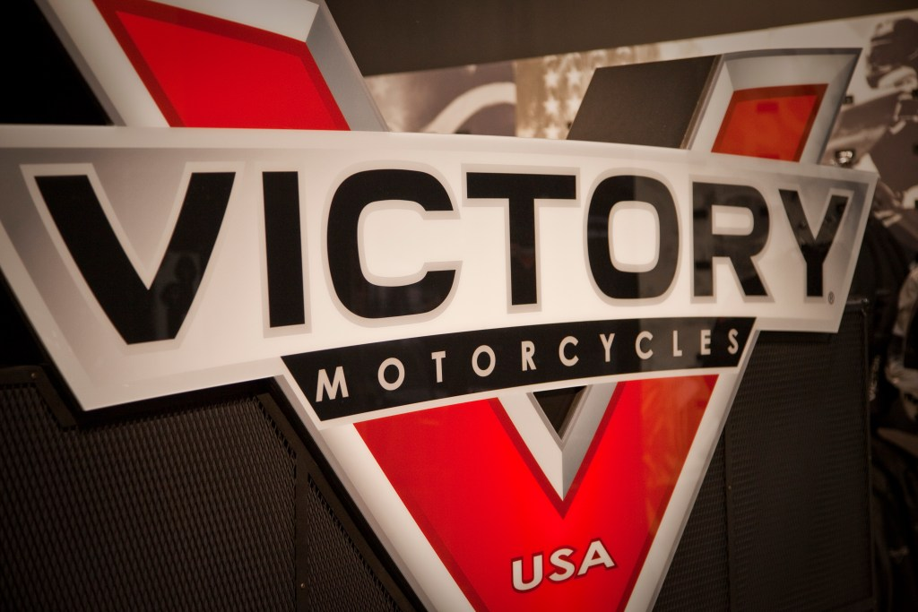 Victory Motorcycles New Logo Store Display