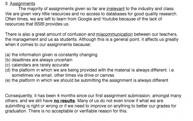 Auszug aus dem Brief der BSBI