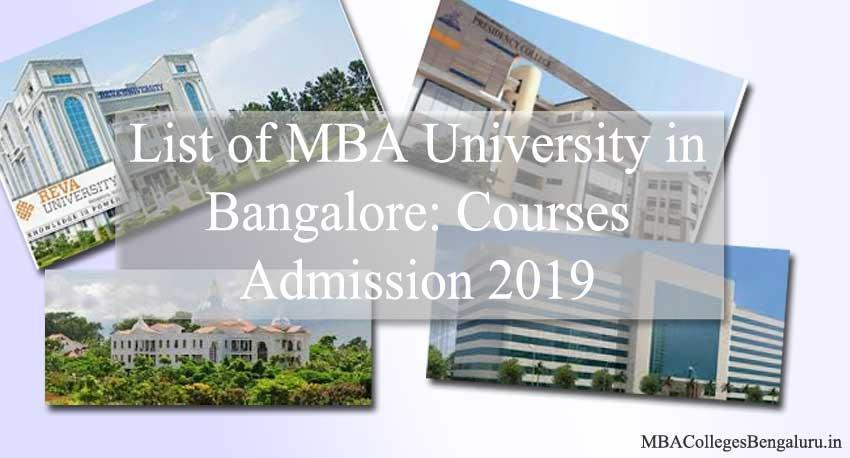 2019 MBA University in Bangalore