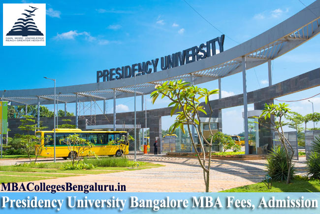 Presidency university in Bangalore