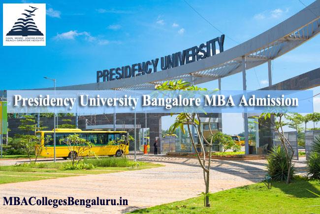 Presidency university MBA admission