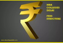 MBA Colleges Delhi Fees Structure