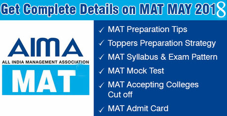 MAT May 2018 Accepting Colleges