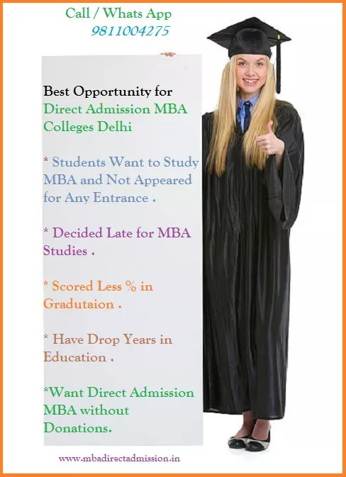Direct MBA Admission in Delhi