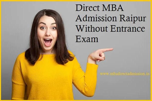Direct MBA Admission Raipur Without Entrance Exam