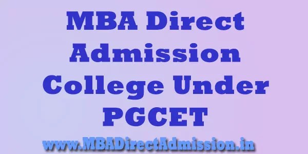 MBA Admission College in PGCET