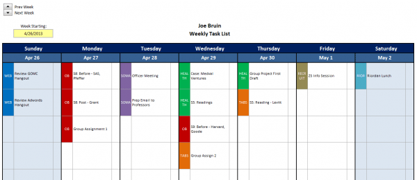 If you've got a task list as long as your arm, it can be overwhelming. Excel Template Mba Excel Homework Tracker Mba Excel