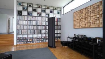 Blick auf das Vinyl-Regal