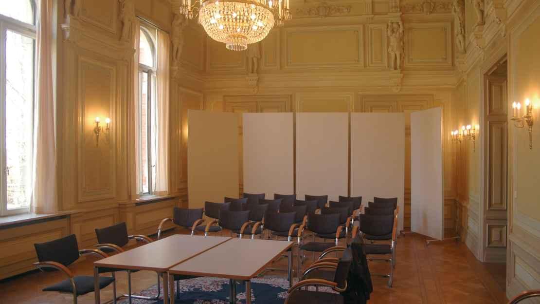 Stellwände im Hauptsaal