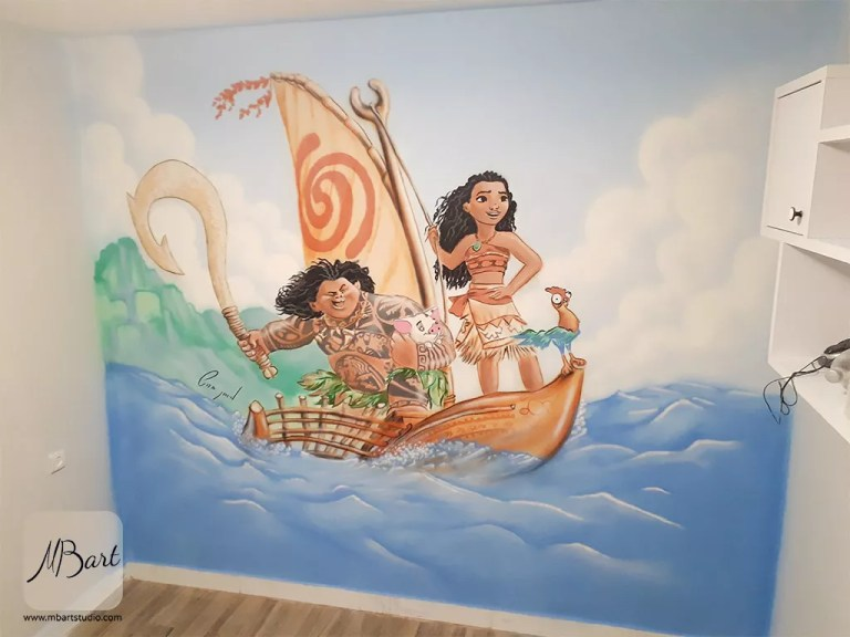 ציורי קיר לחדר ילדים
