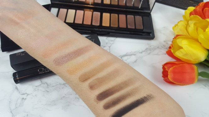 SLA Paris #HowTo Lidschattenpalette swatches