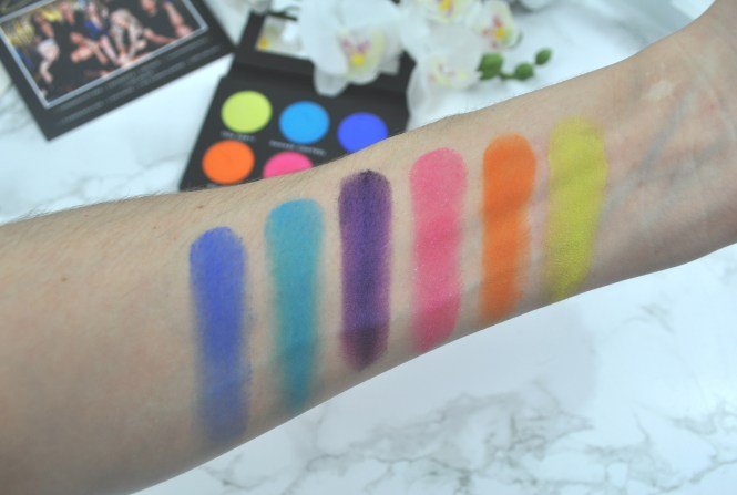 Laura Lee Los Angeles Party Animal Palette Swatches