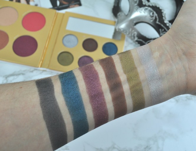 PÜR Cosmetics The Complexion Authority Midnight Masquerade Palette Swatches
