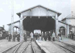 Historische Aufnahme der Bahnanlage Lindau